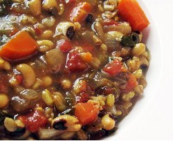 Black Eyed Pea Soup with Tomatoes