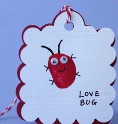 Love Bug Thumbprint Valentines