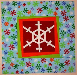 Modern Selvage Snowflake Block