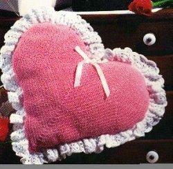 Crocheted Heart Pillow