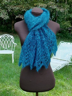 Peacock Jewel Scarf