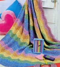 Rainbow Days Afghan