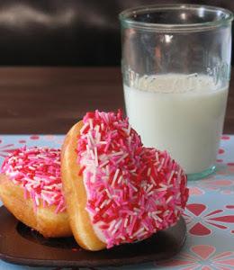 Copycat Krispy Kreme Heart-Shaped Doughnuts