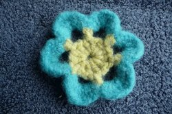Whimsical Felted Flower