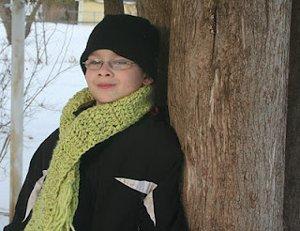 In A Jiff Scarf Crochet Pattern
