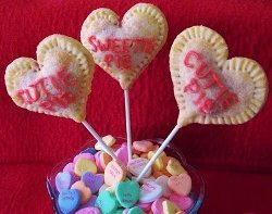 Conversation Heart Pie Pops