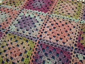 Colorful Fantasy Granny Afghan