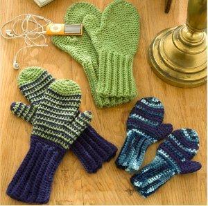 Crocheting Mittens For Beginners : Beginner Mitts for All AllFreeCrochet.com