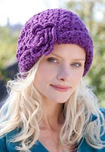 Purple Bloom Beanie