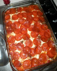 Mamas Pizza Casserole