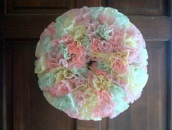 IDip and Dye Coffee Filter Wreath
