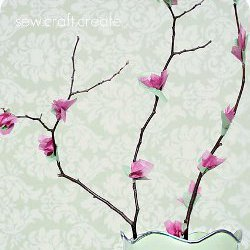 Cherry Blossom Tissue Tree