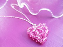 How to Stitch a Beaded Heart Pendant