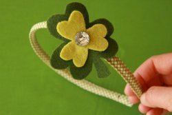 Charming Clover Pin or Headband
