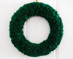 All Ruffled Up Green Wreath