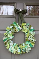 Green Scrappy Wreath