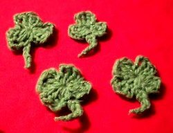 Crochet Shamrock and Four Leaf Clover