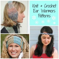 17 Knit and Crochet Ear Warmer Patterns