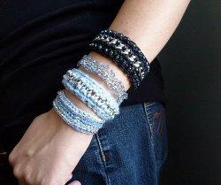 Chain and Crochet Bracelet Tutorial