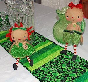 Green Beer Quilted Table Runner