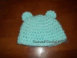 Fuzzy Bear Baby Beanie