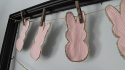 Rustic Burlap Bunny Garland
