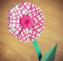 Folded Cupcake Liner Flowers
