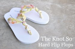 The Knot So Hard Flip Flop DIY