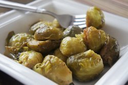 Mama's Maple Dijon Glazed Brussels Sprouts