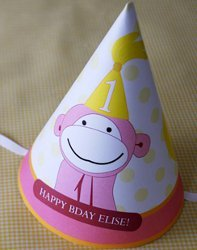 Monkey Party Hat Free Printable