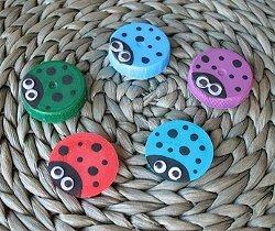 Super Easy Ladybug Caps