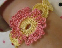 Pink Posy Crochet Bracelet