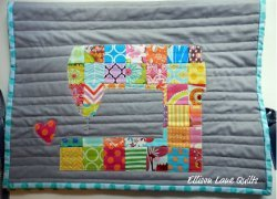 Love to Sew Machine Cover