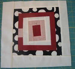 Fun House Log Cabin Quilt Block