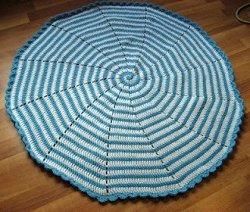 Blue Spiral Baby Blanket