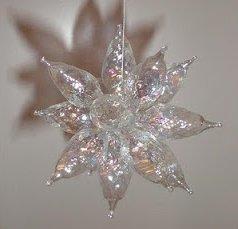 Beautiful Upcycled Bulb Stars