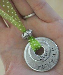 Customized Washer Necklace