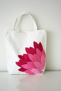 Hand Appliqued Petal Bag