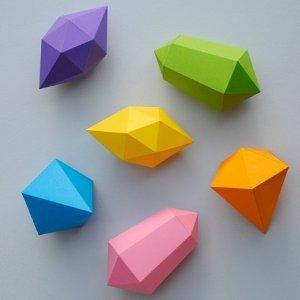 Paper Gemstones