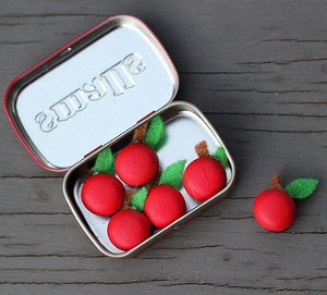 Tiny Apple Refrigerator Magnets