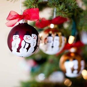 Five Finger Snowman Ornaments