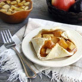 Rustic Plum Apple Tarts