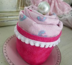 Burp Cloth Cupcakes