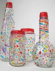 Confetti Vases and Jars
