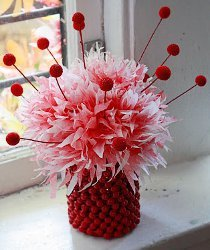 Shirley Temple Coffee Filter Flowers