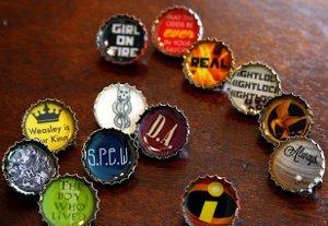 Resin Bottle Cap Pins