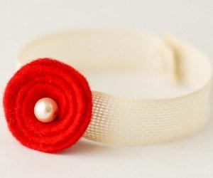 Poppy Flower Bracelet