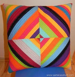 Rainbow All-Sort String Pillow