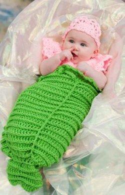 Mermaid Cocoon AllFreeCrochet.com