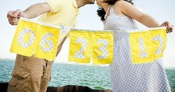 Cute Fabric Save the Date Banner